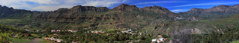 Panoramafoto Santa Lucia, San Bartolome im südlichen Zentrum von Gran Canaria