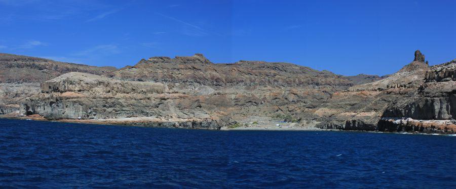 Felsen Landschaft im Süden von Gran Canaria