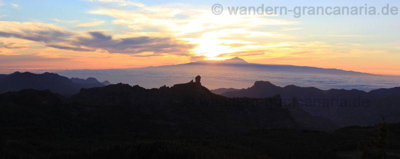 Sonnenuntergang am Pico de las Nieves, Gran Canaria