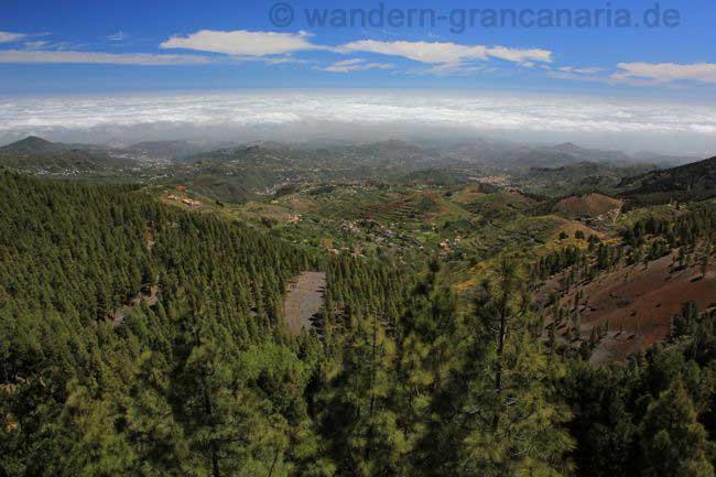 Blick in Richtung Nordosten von Gran Canaria, San Mateo