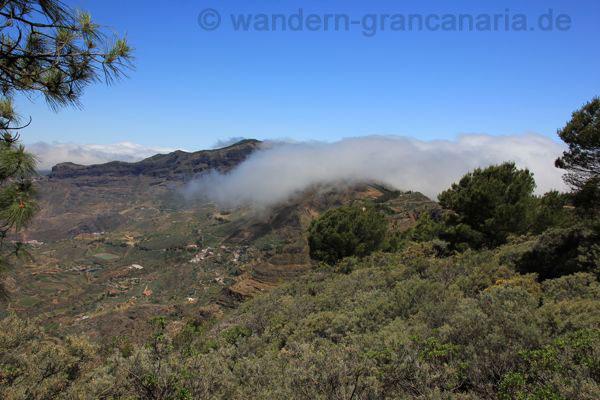 Fliessende Wolken im Norden von Gran Canaria