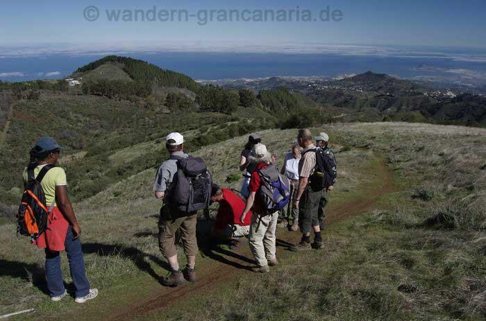 Aufstieg mit Blick auf Las Palmas, Gran Canaria