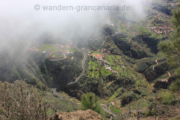 Ausblick auf Tejeda von oben