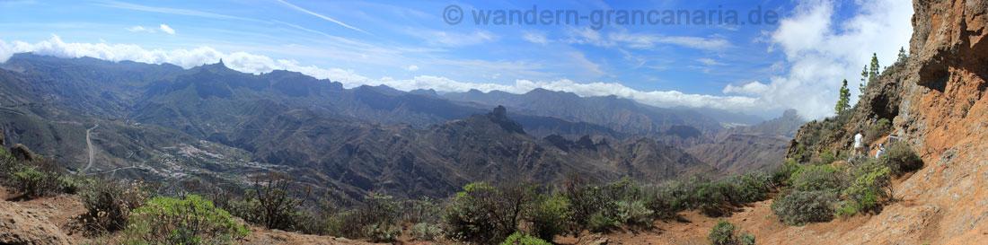 Panoramablick von den Höhlen Cuevas de Caballero