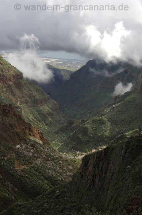 Das Tal von Guayadeque von oben her gesehen.