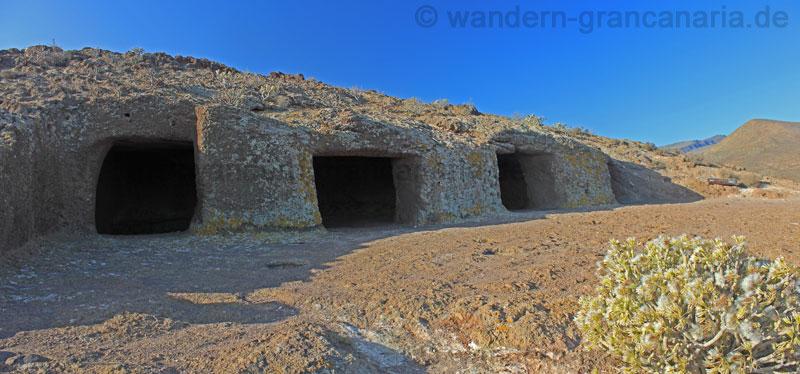Die vier Höhlen bei Cuatro Puertas, Gran Canaria Osten