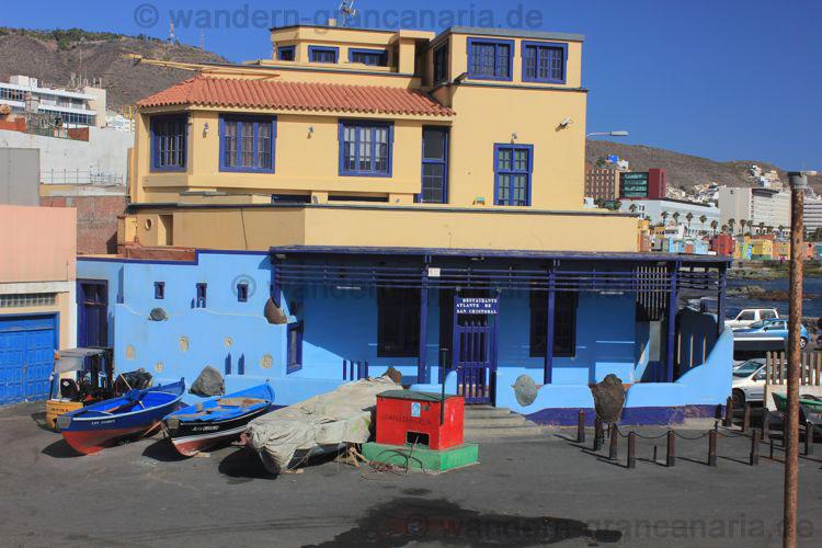 Fischrestaurant im Hafen von San Cristobal, Las Palmas