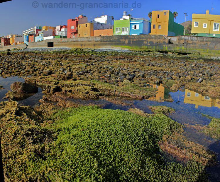 Strand mit bunten Häusern, Las Palmas