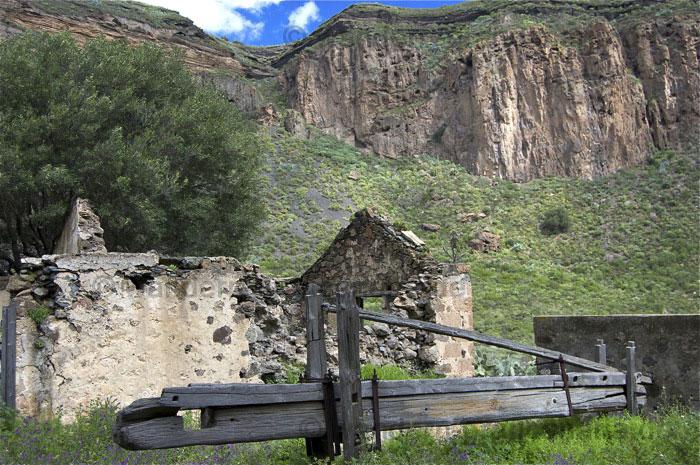 Alte Wein Presse im Nordosten von Gran Canaria