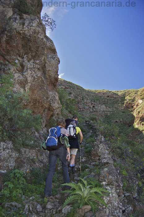 Wanderweg, Aufstieg Barrancohang Guayadeque