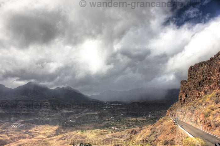 Regen über San Bartolome in der Caldera de Tirajana