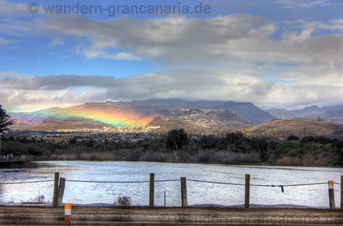 Regenbogen im Süden von Gran Canaria, oberhalb von El Tablero