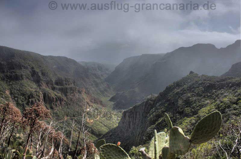 Mittlerer Teil des Barranco von Guayadeque