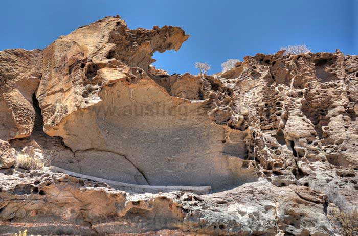 Felsformation zu sehen bei der Wandertour.