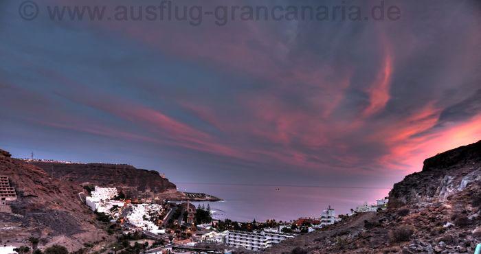 Sonnenuntergang bei Playa del Cura.