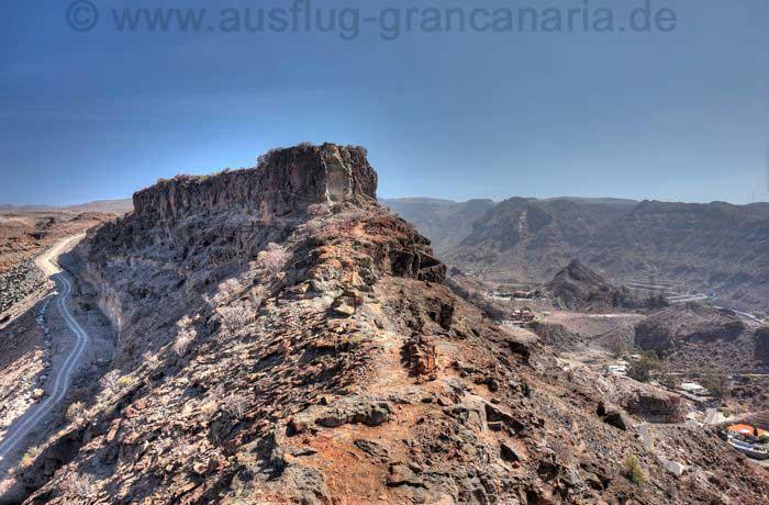 Felsen oberhalb von Playa del Cura
