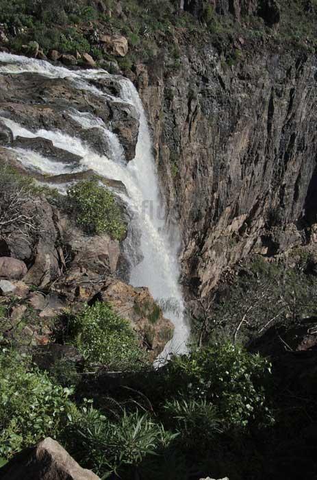 Wasserfall auf Gran Canaria von oben