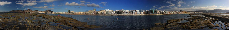 Panoramafoto Las Canteras Strand Las Palmas