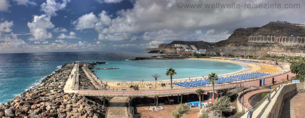 Amadoresstrand im Süden von Gran Canaria