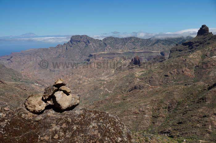 Blick zum Teide und Bentaiga im Zentrum von Gran Canaria
