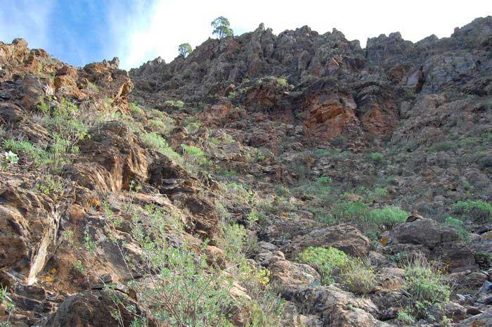 Schwieriges Gelände Bergtour Gran Canaria Süden