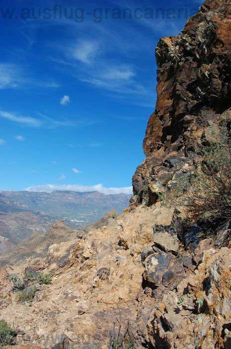 Felsen oberhalb von Fataga
