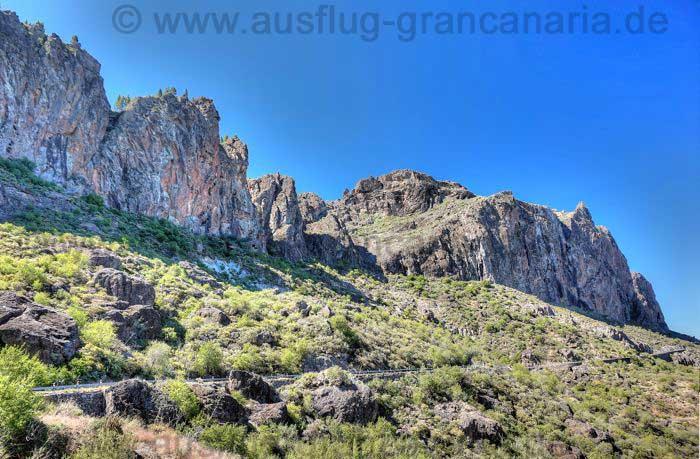 Felswände im Westen des Roque Nublo, Gran Canaria