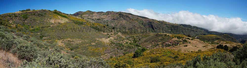 Sommerliche Region oberhalb von Las Lagunetas im Nordosten von Gran Canaria