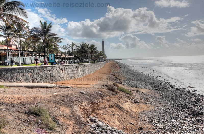 Strand El Faro, zwischen Maspalomas und Meloneras, Gran Canaria