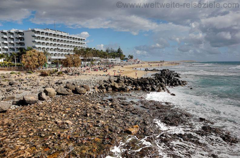 Strände und Hotels im Osten vom Leuchtturm von Maspalomas