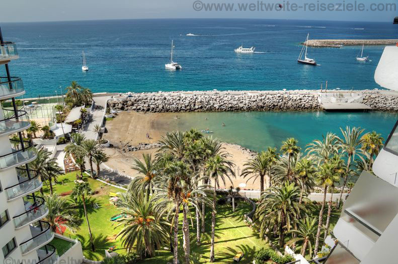 Strand unterhalb vom Radison Blue Patalava, Gran Canaria