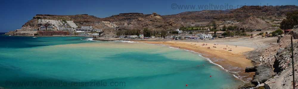 Sand wird aufgeschüttet am Strand von Tauro, Gran Canaria