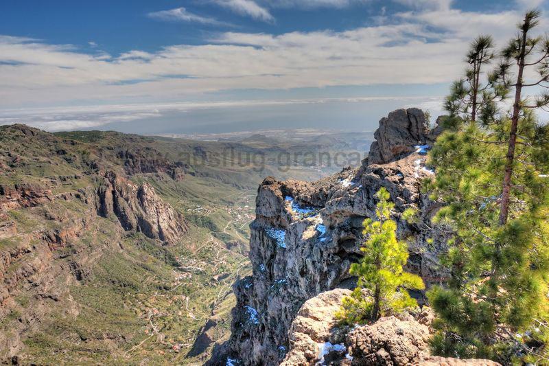 Blick vom Campanario nach Südosten in den oberen Teil des Barranco de Tirajana
