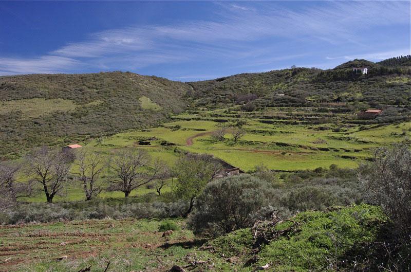 Aufgelassene Felder im oberen Bereich des Tales de la Mina