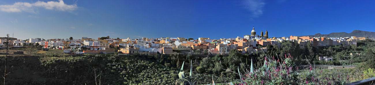 Panoramafoto von Aguimes, Gran Canaria Südosten