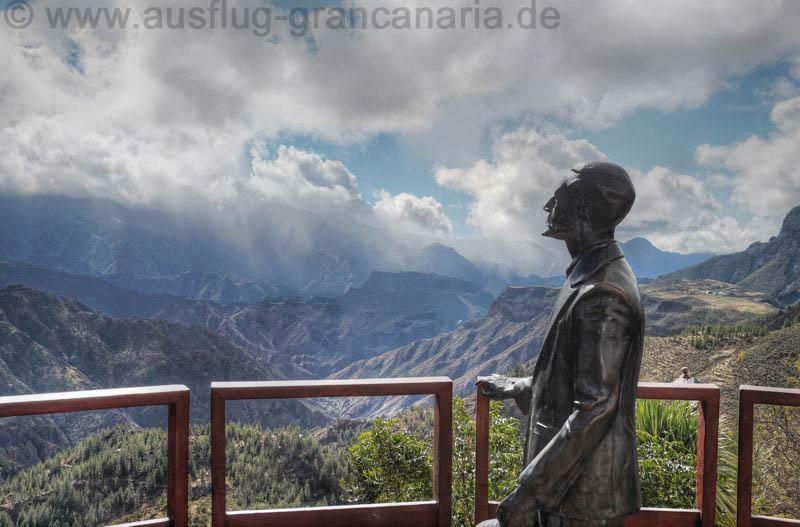 Aussichtspunkt von Unamuno in Artenara den wir auf unserem Ausflug besuchen.