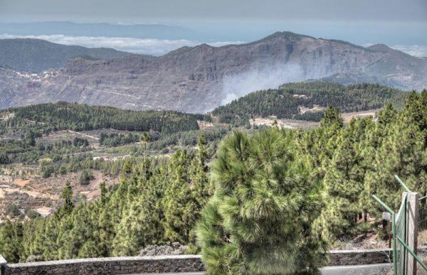 Blick vom Pico de las Nieves nach Norden beim Waldbrand von Gran Canaria 17