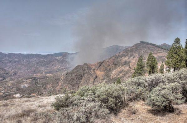 Erster Rauch Brand Gran Canaria September 17